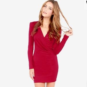 Lulus Foreign Film Red Wine Dress